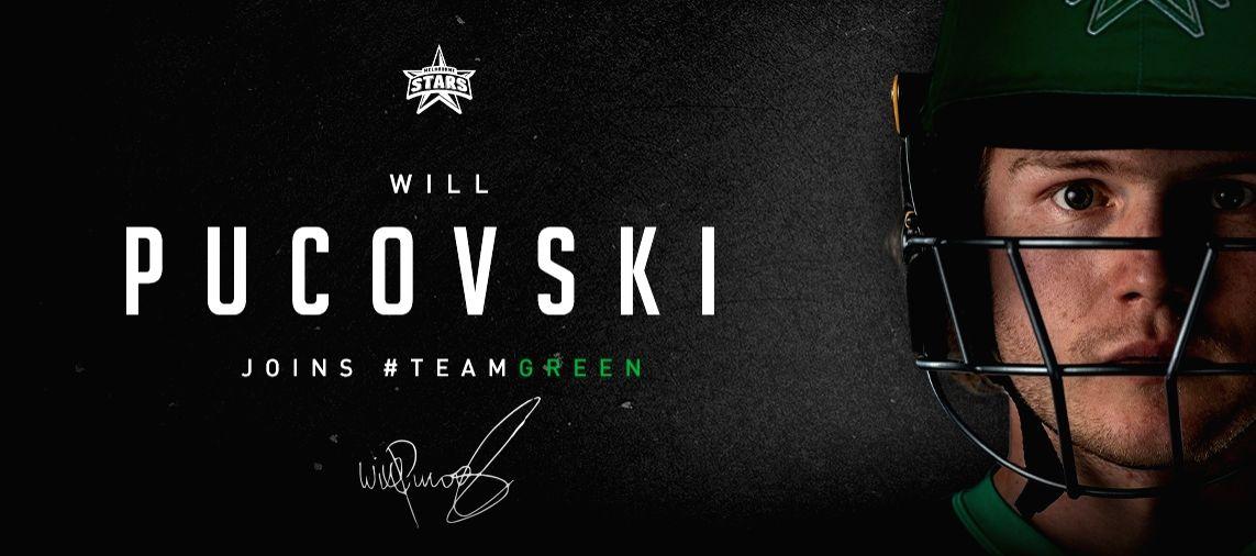 BBL: Melbourne Stars sign Victorian batsman Will Pucovski.