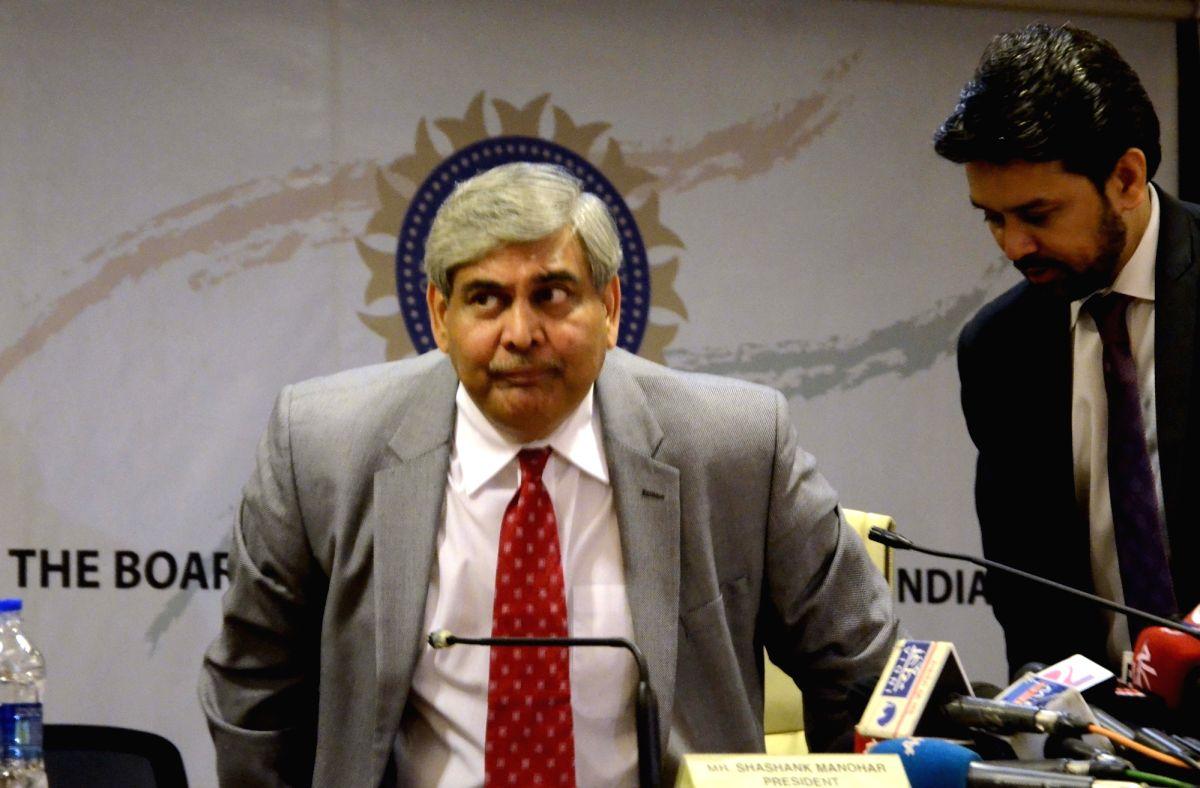 BCCI president Shashank Manohar.