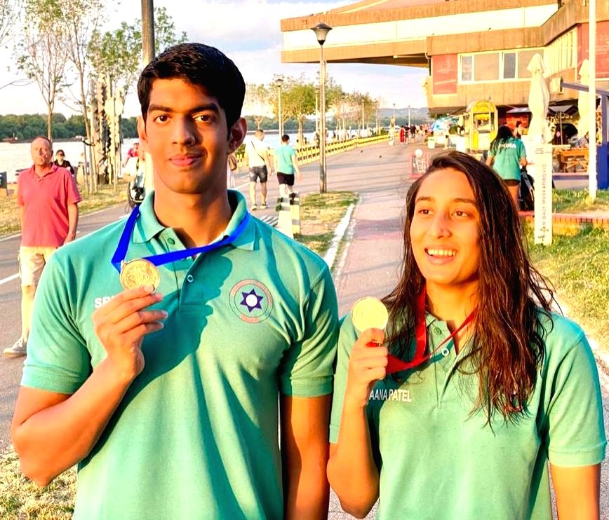 Belgrade swimming: Indians win 3 gold, all miss Olympic qualification.