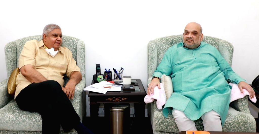 Bengal Governor meets Amit Shah, President Kovind