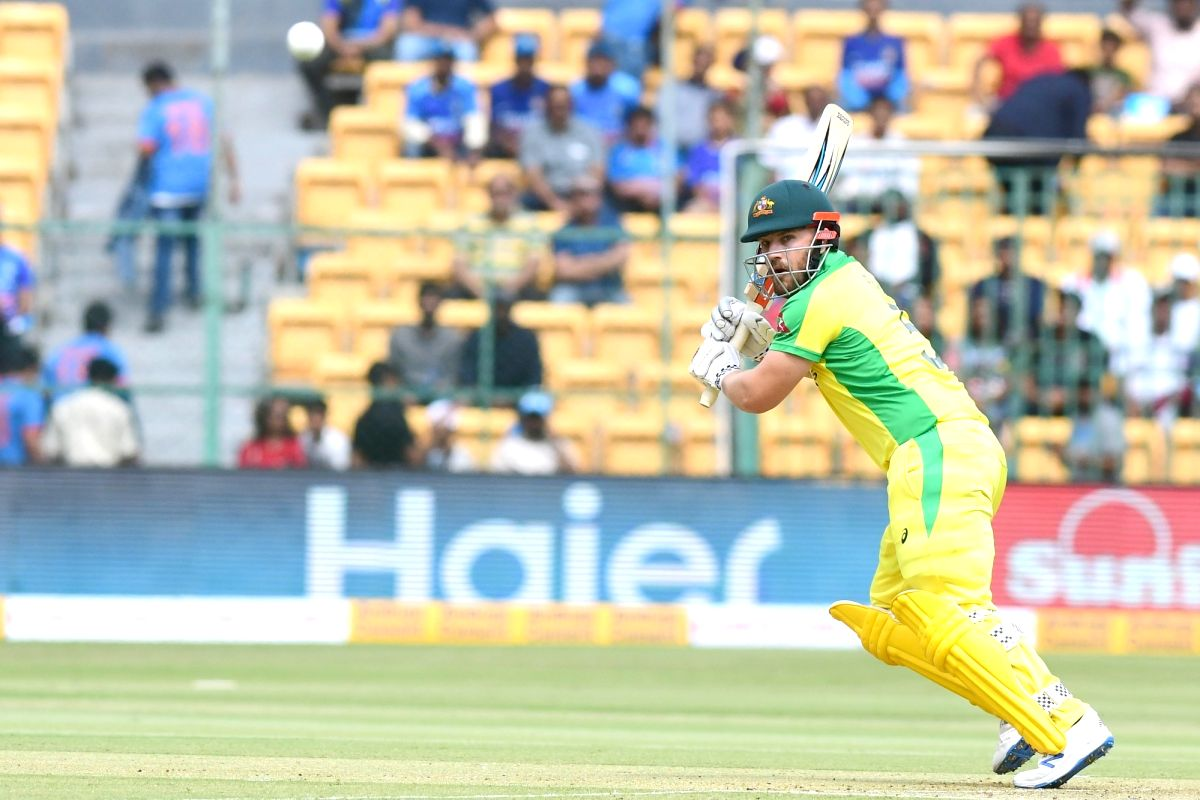 Bengaluru: Australian captain Aaron Finch in action during the third and final ODI match between India and Australia, at M. Chinnaswamy Stadium in Bengaluru on Jan 19, 2020.