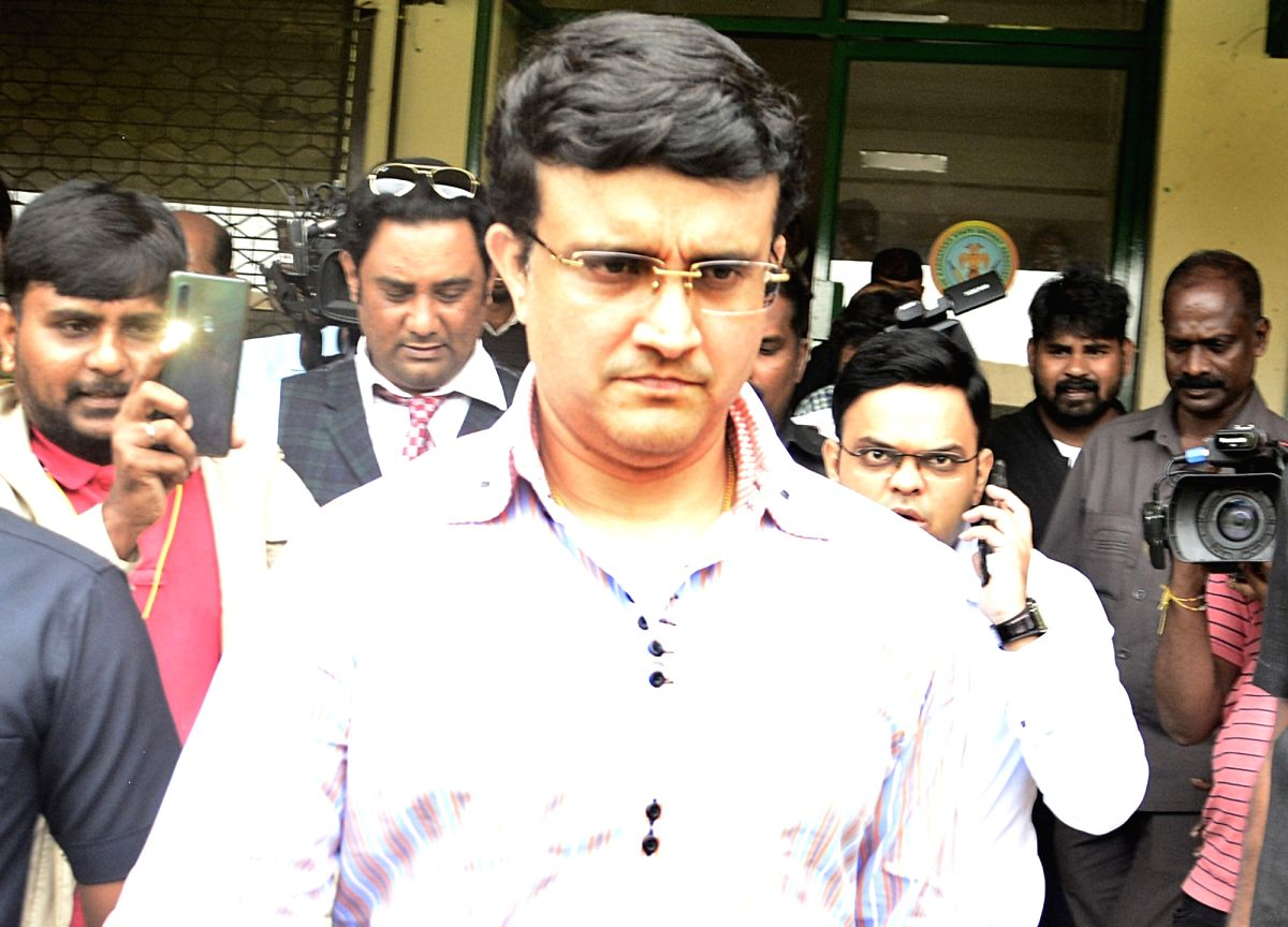 Bengaluru: BCCI President Sourav Ganguly arrives to meet National Cricket Academy (NCA) Head Rahul Dravid, in Bengaluru on Oct 30, 2019.