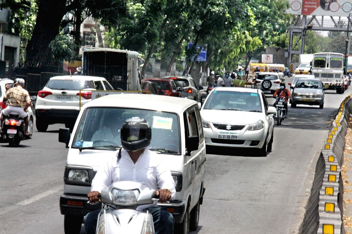 Bengaluru: Bengaluru's JC Road witnesses normal traffic during the extended nationwide lockdown imposed to mitigate the spread of coronavirus; on Apr 22, 2020.