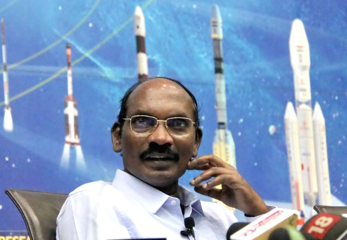 Bengaluru: Indian Space Research Organisation (ISRO) Chairman K. Sivan addresses a press conference at ISRO Headquarters, in Bengaluru on Jan 1, 2020.