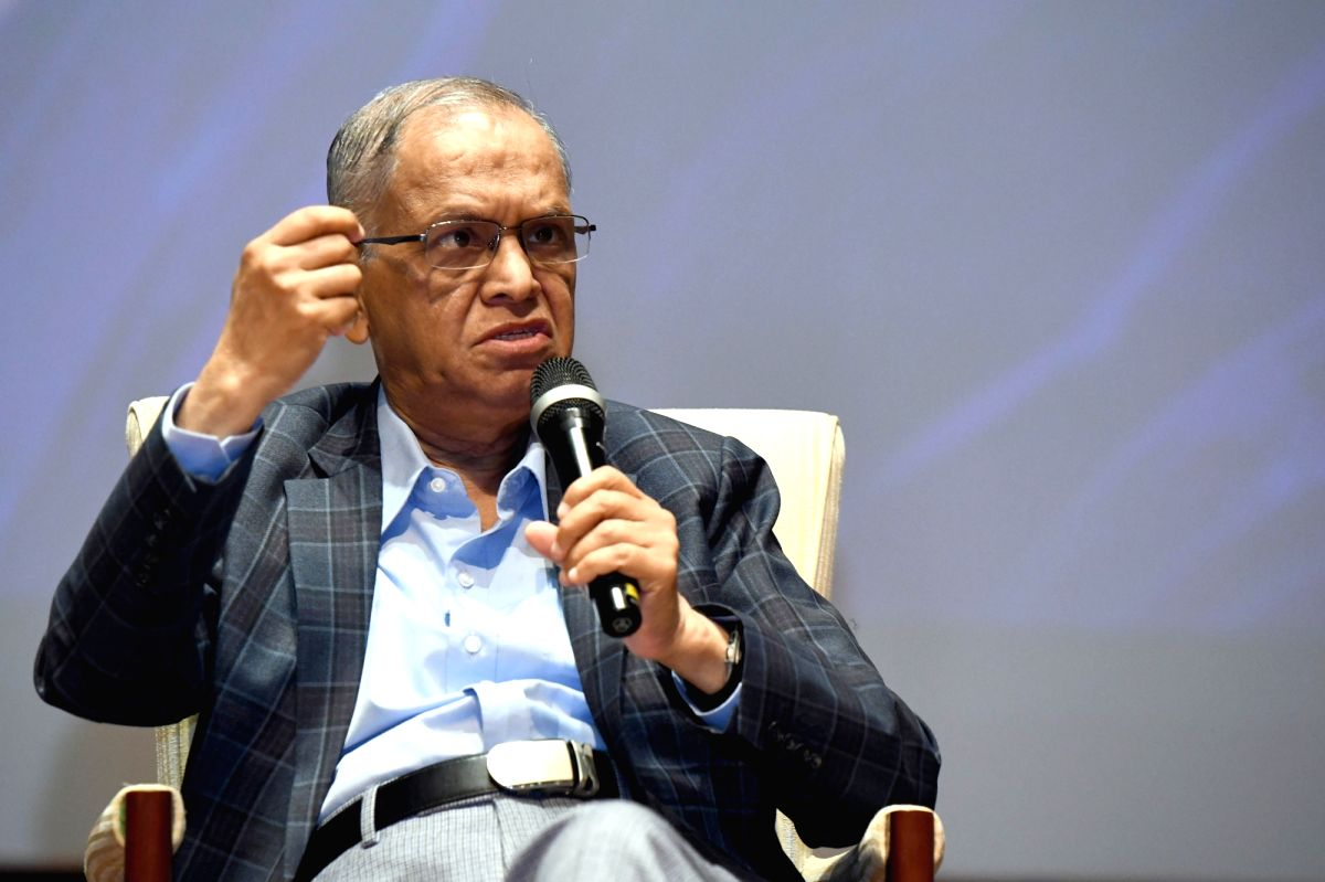 Bengaluru: Infosys co-founder, NR Narayana Murthy addresses during a programme organised to announce winners for Infosys Prize 2019 in Bengaluru on Nov 7, 2019.