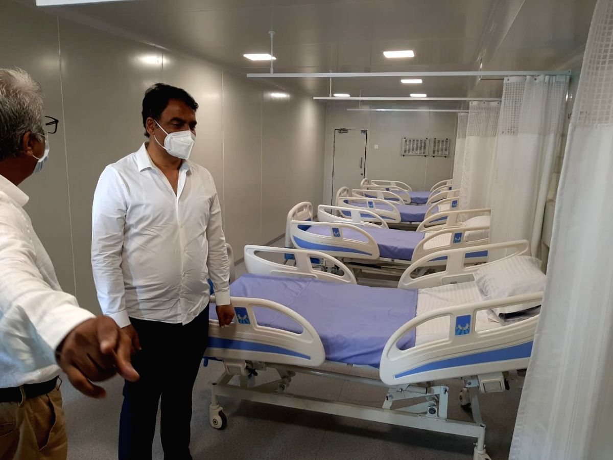 Bengaluru: Karnataka Deputy Chief Minister C.N. Ashwath Narayan in a mobile modular container ICU for treating Covid patients in Bengaluru on July 19, 2020.