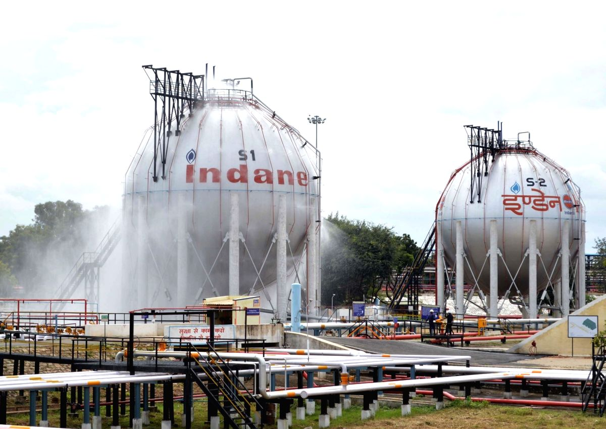 Bengaluru: LPG bottling plant of the Indian Oil Corporation where Emergency response drill was conducted, at Devanagonthi in Bengaluru on Oct 22, 2019.