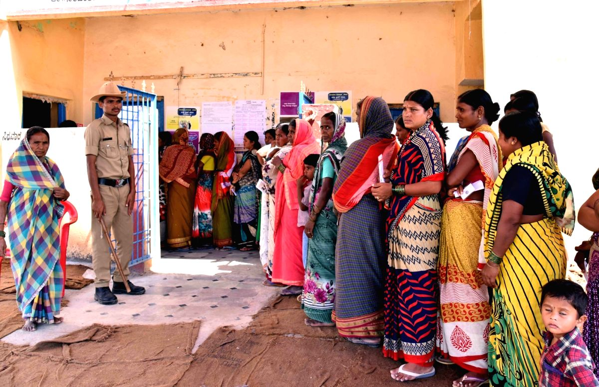 Bengaluru: People wait in queue to cast vote during the third phase of Lok Sabha polls, in Bengaluru, on April 23, 2019.