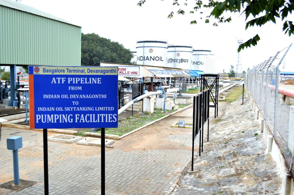 Bengaluru: Pumping facilities at Indian Oil Corporation where Emergency response drill was conducted, at Devanagonthi in Bengaluru on Oct 22, 2019.