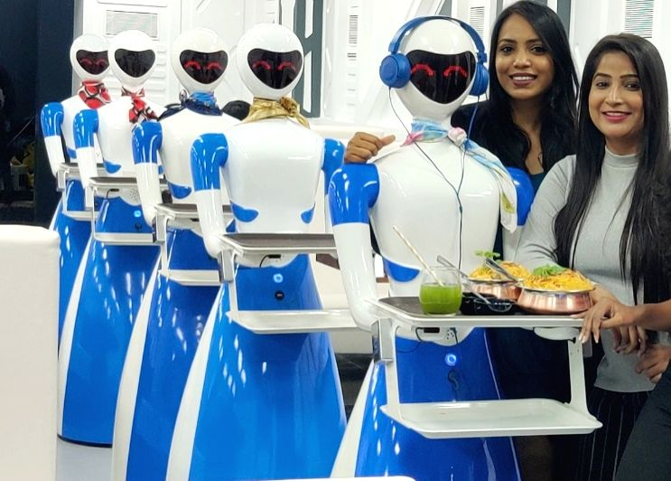 Bengaluru: Robots serve food at the launch of Robot Restaurant at Indiranagar, in Bengaluru on Aug 18, 2019.