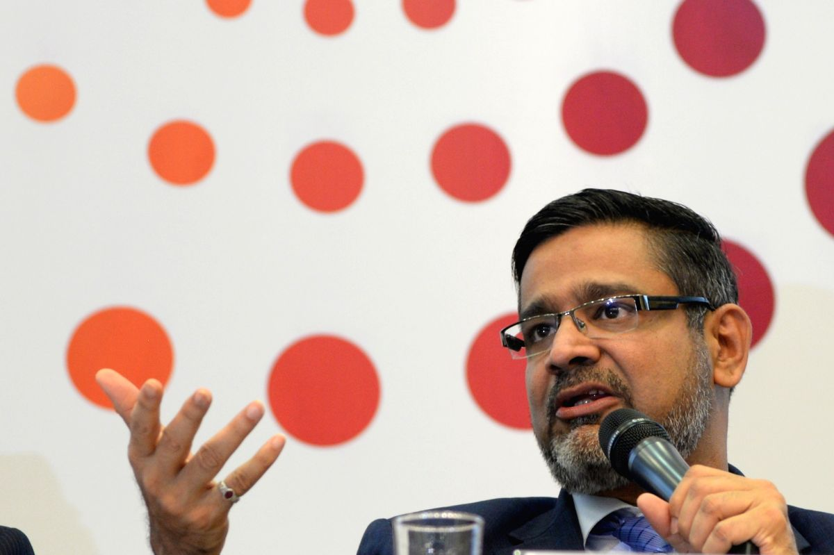 Bengaluru: Wipro CEO Abidali Neemuchwala addresses a press conference to announce financial results of WIPRO in Bengaluru, on Oct 17, 2017.