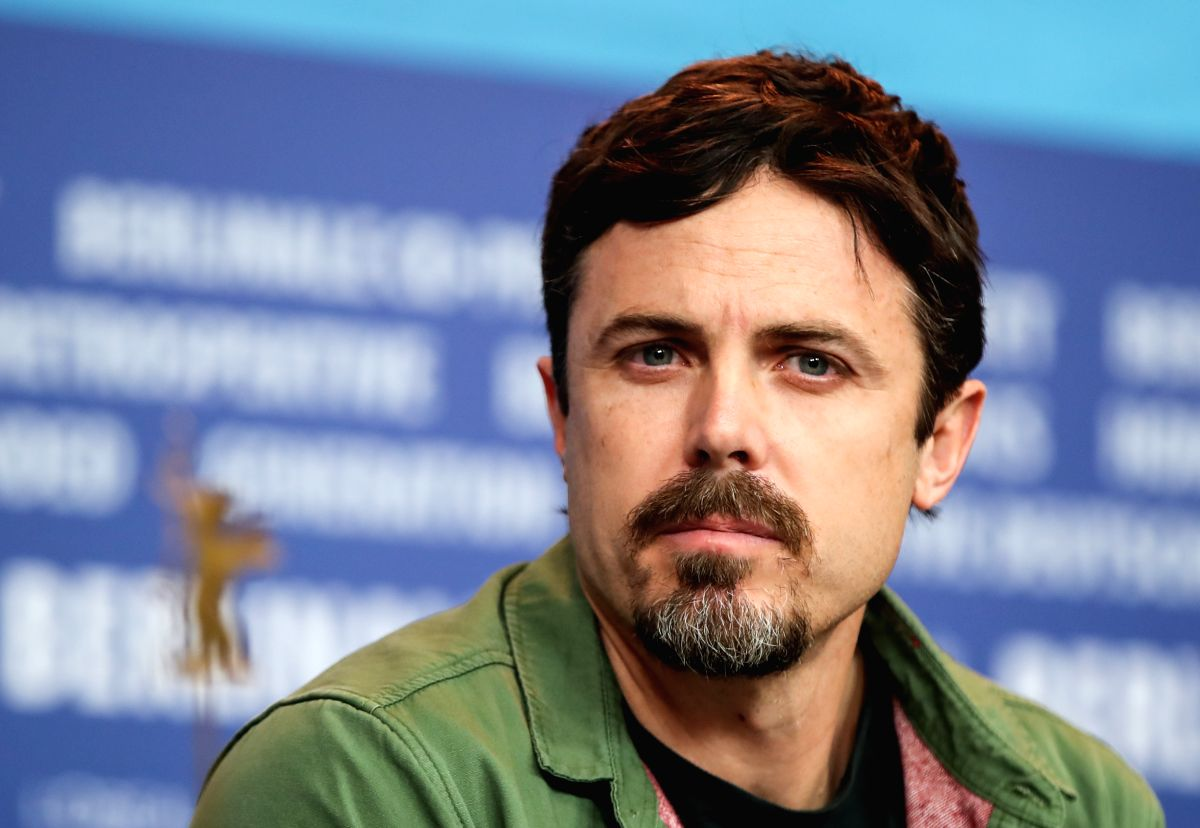 "BERLIN, Feb. 9, 2019 (Xinhua) -- Director, screenwriter and actor Casey Affleck of film ""Light of My Life"" attends a press conference during the 69th Berlin International Film Festival in Berlin, capital of Germany, Feb. 8, 2019. (Xinhua/Shan Yuqi/IA"