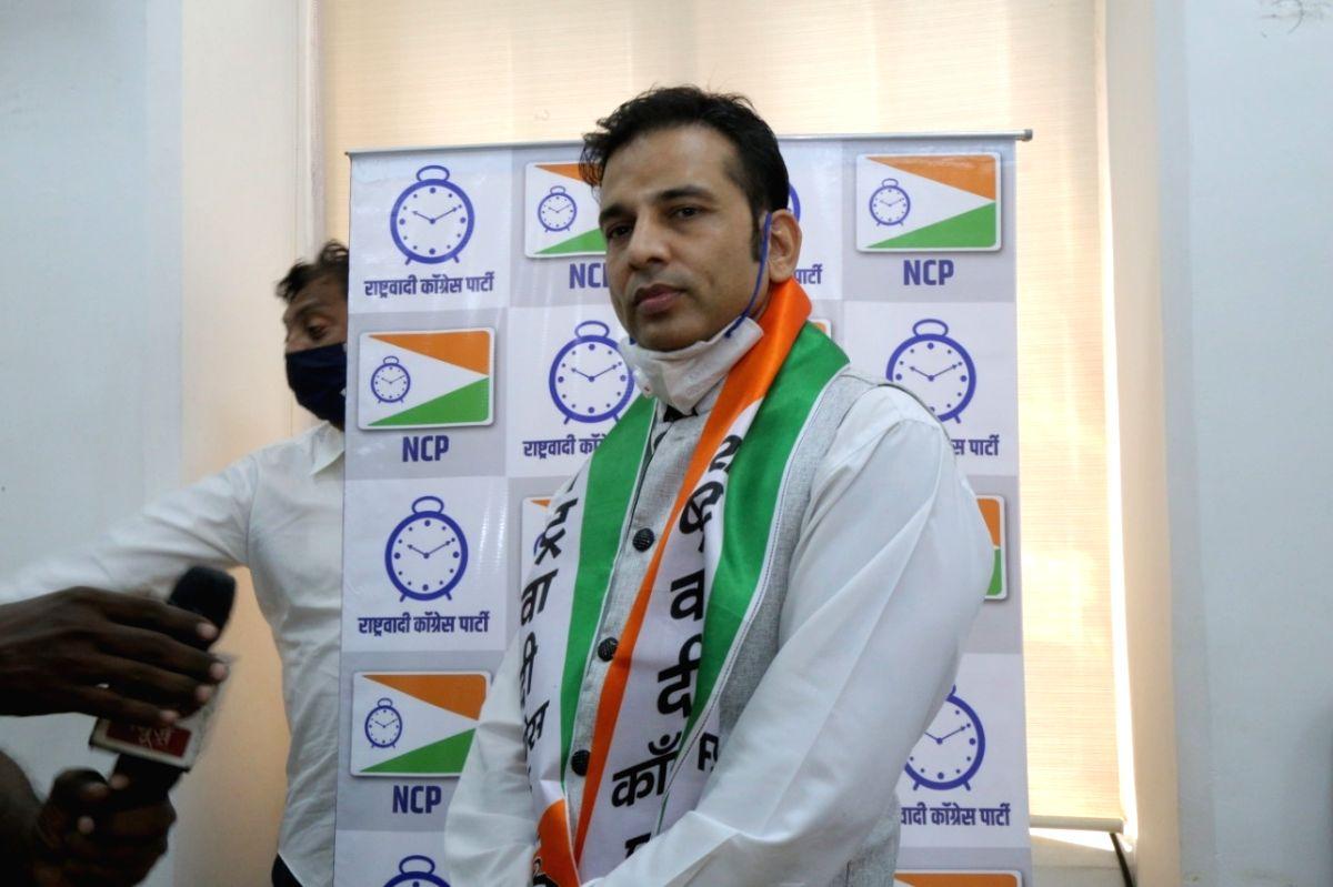 Bhojpuri actor Sudip Pandey joins NCP. He will be star campaigner in Bihar