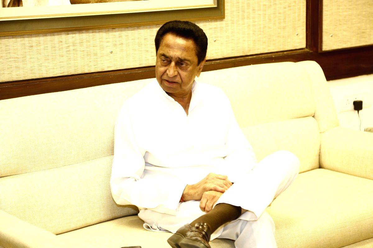 Bhopal: Madhya Pradesh Chief Minister Kamal Nath during an exclusive interview with IANS in Bhopal.