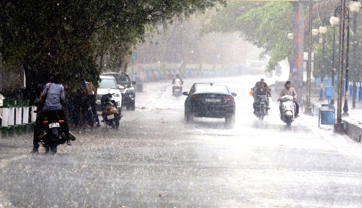 Bhopal: Rains lash Bhopal on June 14, 2019