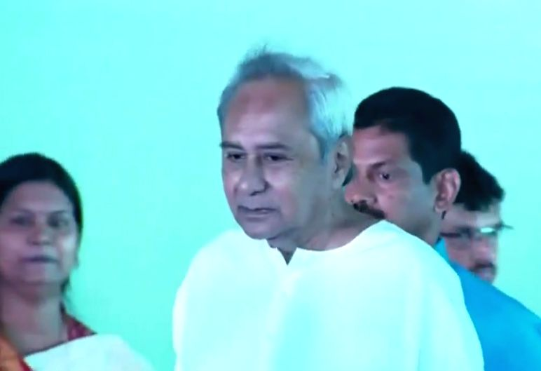Bhubaneswar: Naveen Patnaik arrives to take oath as Odisha Chief Minister at a function in Bhubaneswar on May 29, 2019. He was re-elected with a decisive majority in the Assembly elections. The 72-year-old Biju Janata Dal chief became one of the long