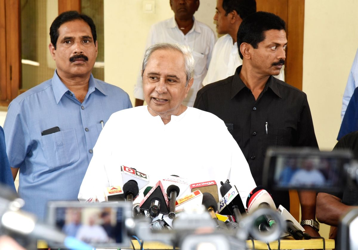 Bhubaneswar: Odisha Chief Minister and Biju Janata Dal (BJD) leader Naveen Patnaik  during a press conference where he announced the first list of candidates for the Lok Sabha and Assembly polls, in Bhubaneswar on March 18, 2019. In the first list, t