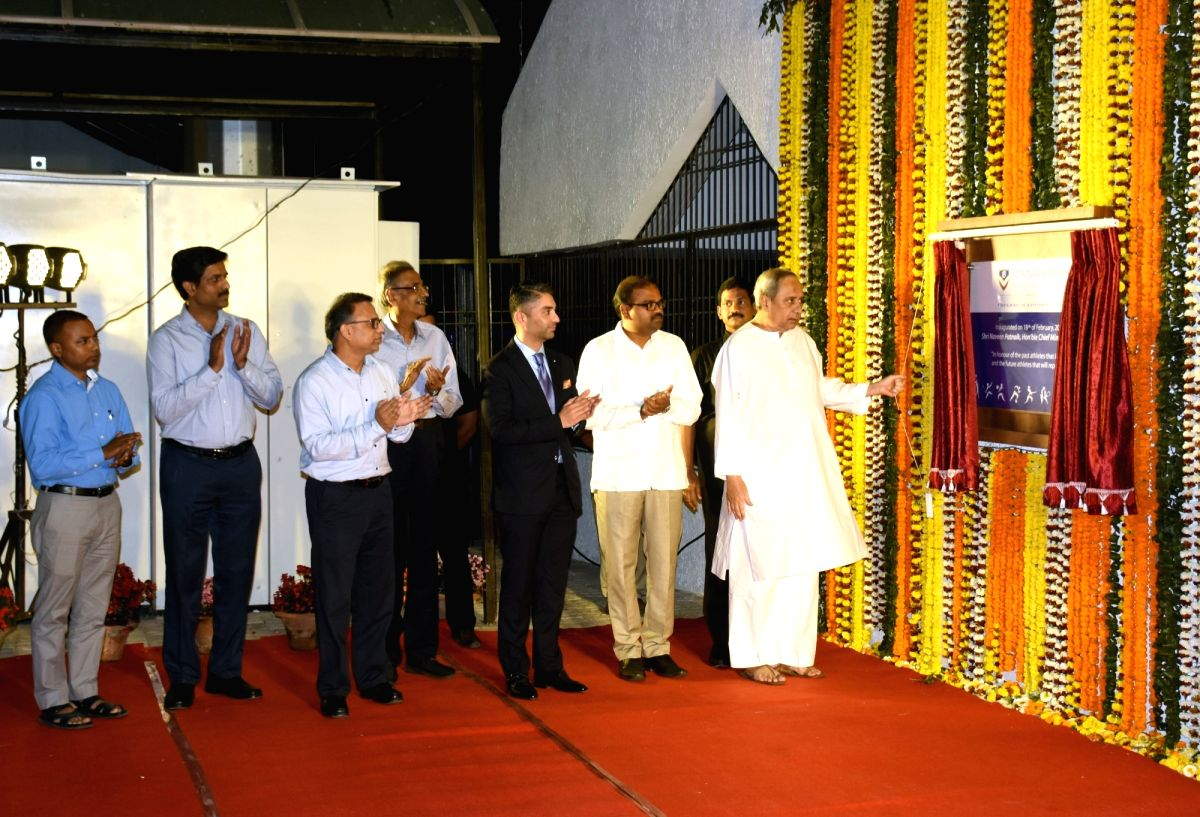 Bhubaneswar: Odisha Chief Minister Naveen Patnaik along with former World and Olympic shooting champion Abhinav Bindra during the inauguration of Abhinav Bindra Targeting Performance (ABTP) centre at Kalinga Stadium in Bhubaneswar on Feb 18, 2019. (P