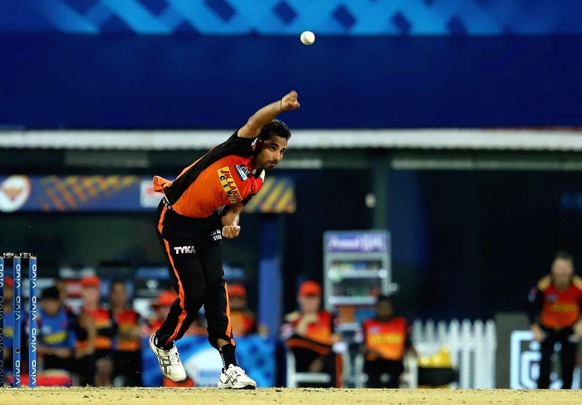 Bhuvneshwar Kumar of Sunrisers Hyderabad  (Credit : BCCI/IPL) (Not for sale)