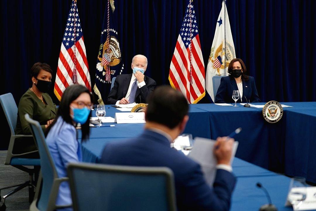 Biden, Harris condemn anti-Asian violence during Atlanta visit