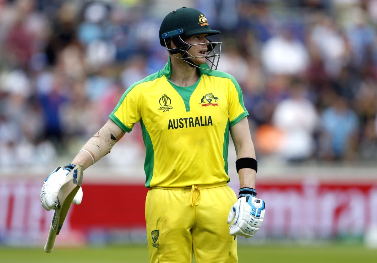Birmingham: Australia's Steve Smith walks back to the pavilion after getting dismissed during the second semi-final match of the 2019 World Cup between England and Australia at the Edgbaston Cricket Stadium in Birmingham, England on July 11, 2019. (P