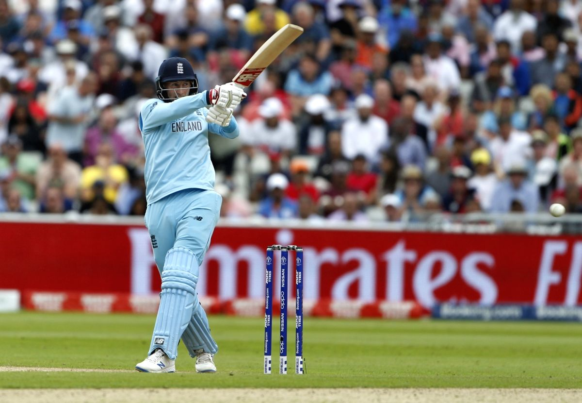 Birmingham: England's Joe Root in action during the second semi-final match of the 2019 World Cup between England and Australia at the Edgbaston Cricket Stadium in Birmingham, England on July 11, 2019. (Photo: Surjeet Kumar/IANS)