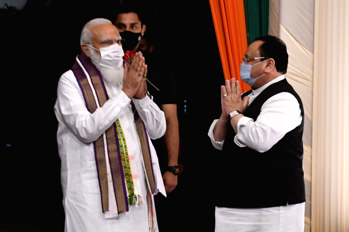 BJP's big plan - 50 lakh Covid vaccinations daily.(photo:IANS)