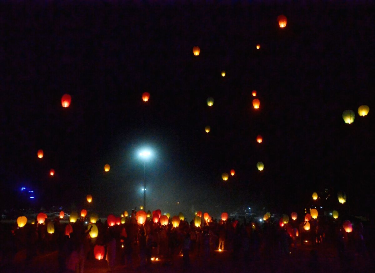 Lanterns in the sky !!