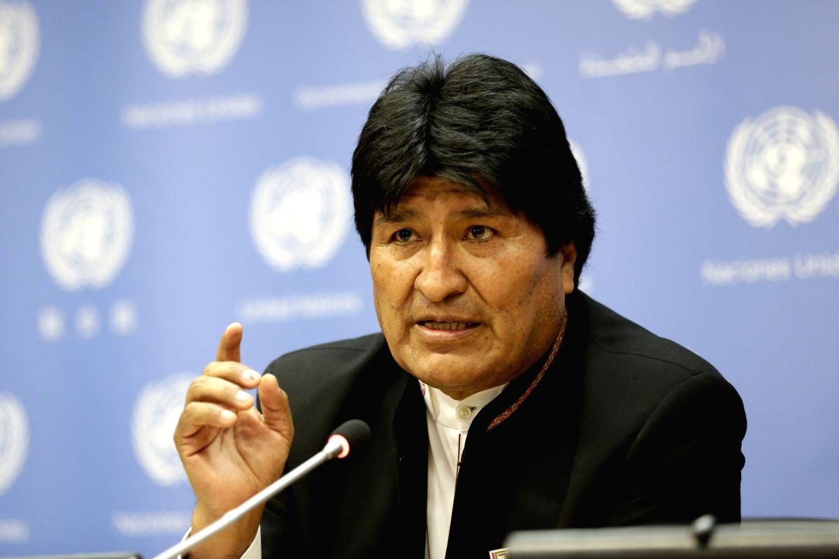 Bolivian President Juan Evo Morales Ayma. (Xinhua/Li Muzi/IANS)