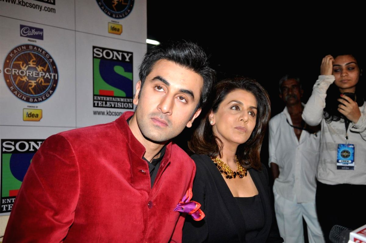 Bollywood actor Ranbir Kapoor & Neetu Kapoor