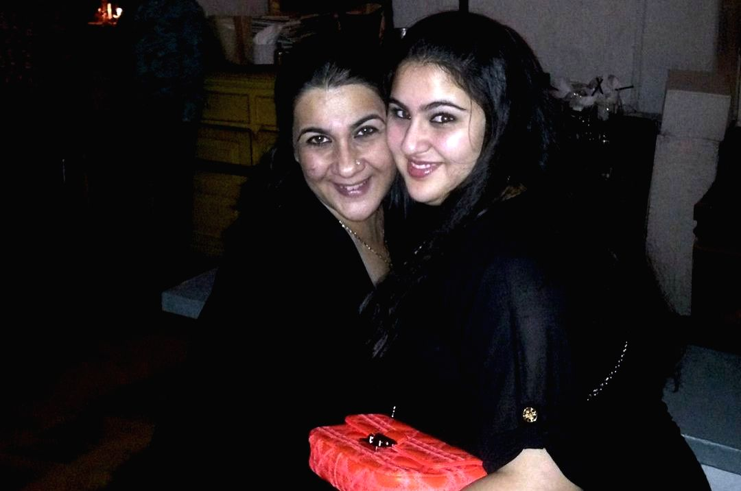 Bollywood actress Sara Ali Khan has shared a throwback photograph of herself but it is the caption which is winning the internet. Sara on Wednesday shared a picture where her chubbier self. In the image she is seen hugging her mother Amrita Singh.