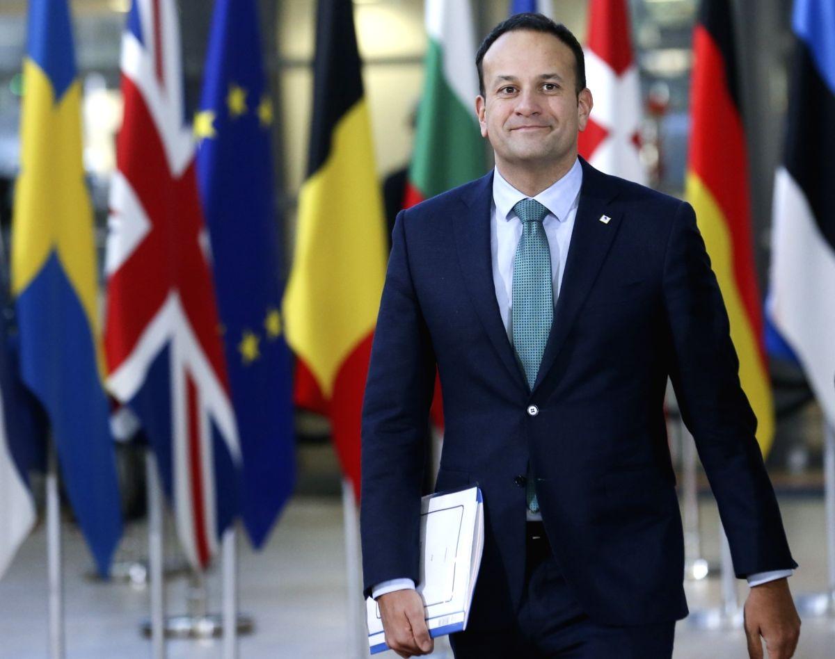 BRUSSELS, Dec. 13, 2018 (Xinhua) -- Irish Prime Minister Leo Varadkar arrives at a two-day EU Summit in Brussels, Belgium, Dec. 13, 2018. (Xinhua/Ye Pingfan/IANS)