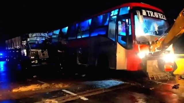 18 killed in UP as truck rams into stationary bus