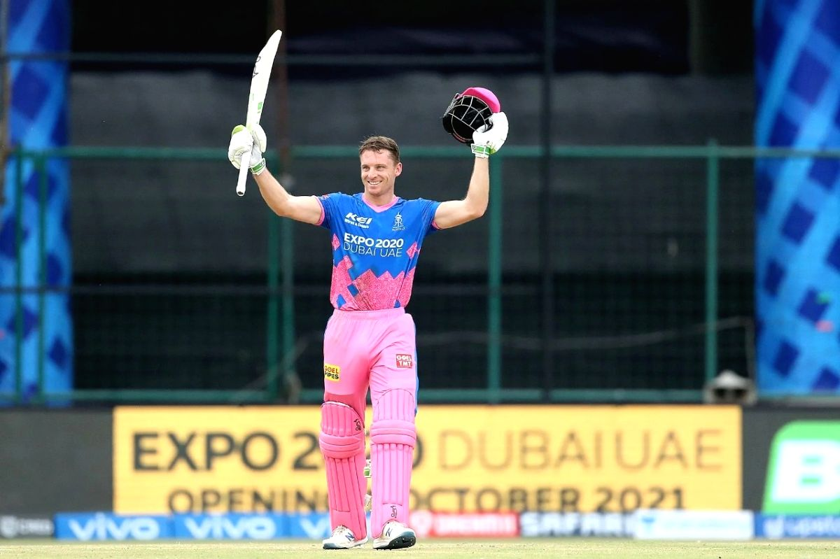 Buttler's maiden T20 ton takes RR to 220/3.(Photo:BCCI/IPL)