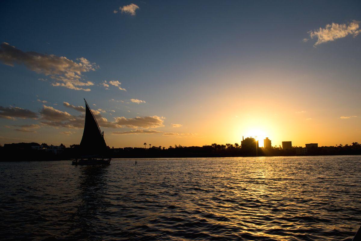 Nile River sunset