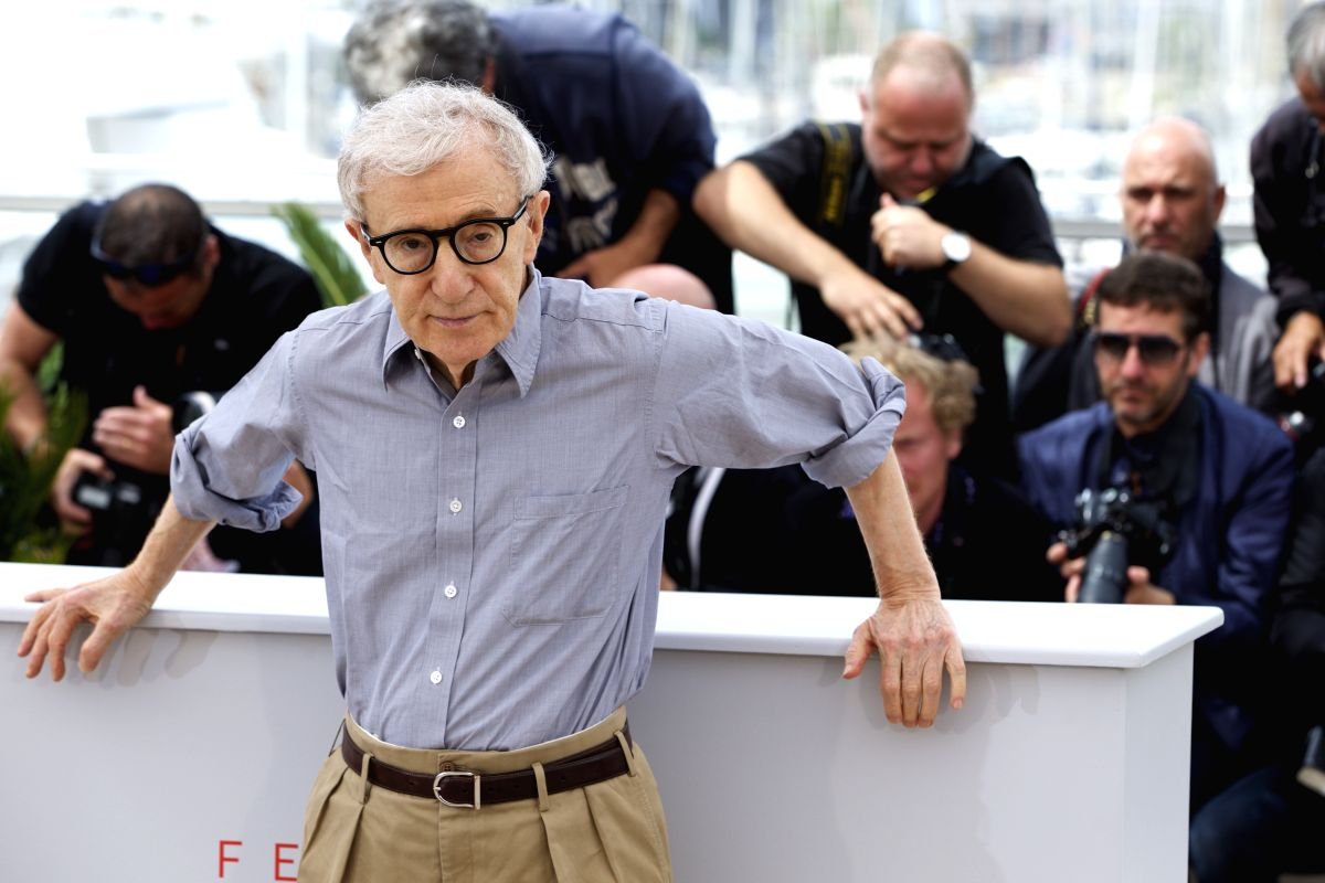 """CANNES, May. 11, 2016 (Xinhua) -- Director Woody Allen attends a photocall for the film """"Cafe Society"""" during the 69th Cannes Film Festival in Cannes, France, on May 11, 2016. (Xinhua/Jin Yu/IANS)"""