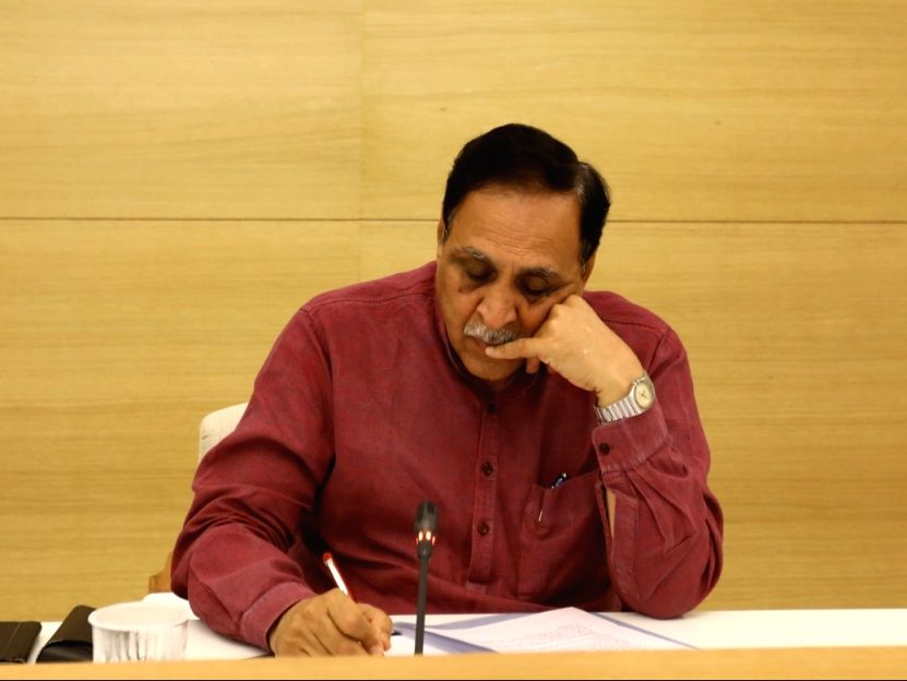 Caption: Gujarat Chief Minister Vijay Rupani.