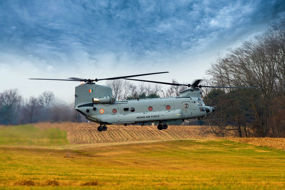 CH-47F (I) Chinook -- an advanced multi-mission helicopter.