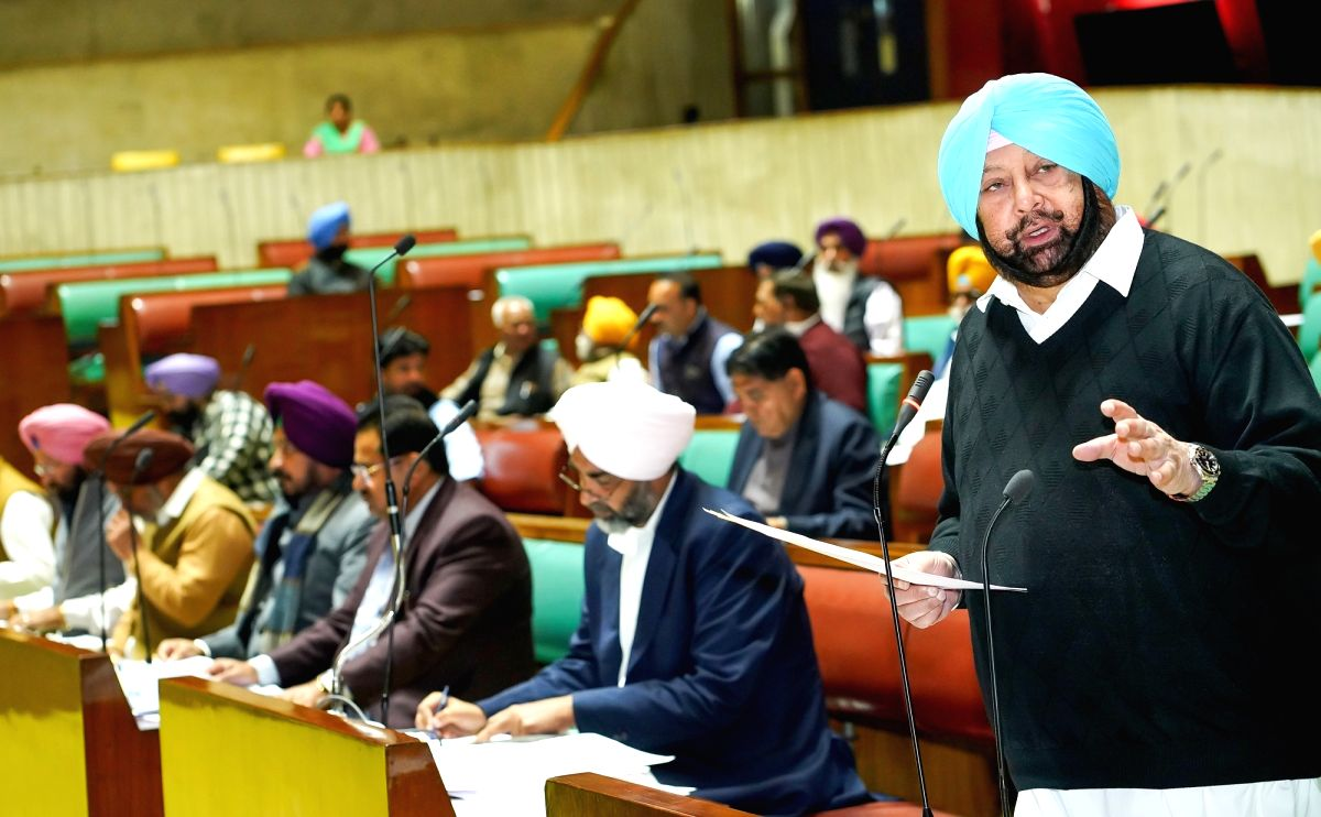 Chandigarh: Punjab Chief Minister Captain Amarinder Singh during the first day of Budget session of Punjab Legislative Assembly in Chandigarh on Feb 20, 2020.