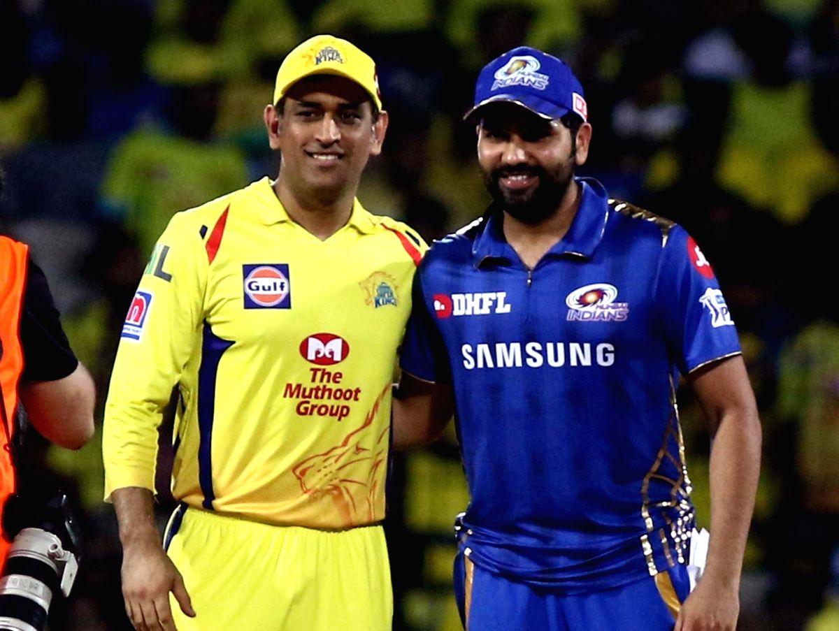 Chennai Super Kings skipper MS Dhoni and Mumbai Indians' skipper Rohit Sharma
