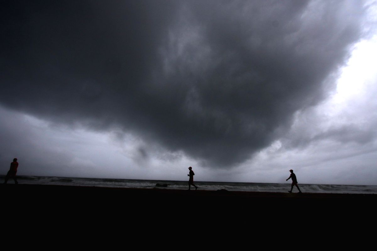Chennai: Chennai witnesses strong weather changes due to the effect of Cyclonic storm Burevi which is expected to cross the south Tamil Nadu coast amidst Pamban and Kanyakumari between December 3 and December 4 with a wind speed of 70-80 kmph, gustin