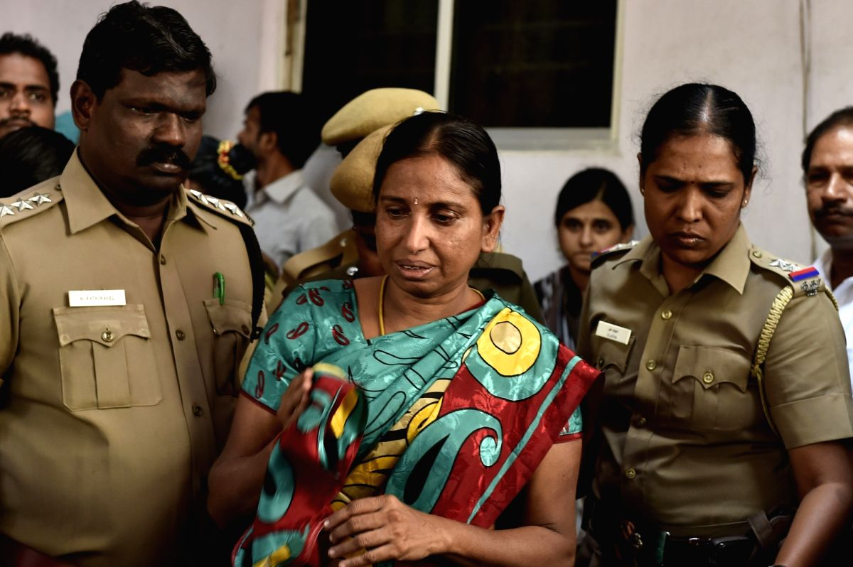 Chennai: Nalini Sriharan, a convict in the Rajiv Gandhi assassination case who is out on one-day parole after her father passed away at her house in Chennai on Feb 24, 2016.