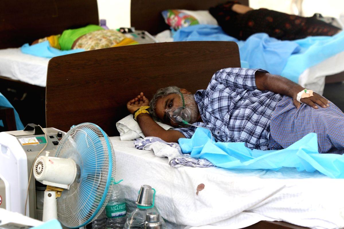 Chennai: Oxygen concentrator beds at Omandurar Multi-Super-Speciality Hospital in chennai on Thursday, 13 may, 2021.(Photo: R.Parthibhan/IANS)