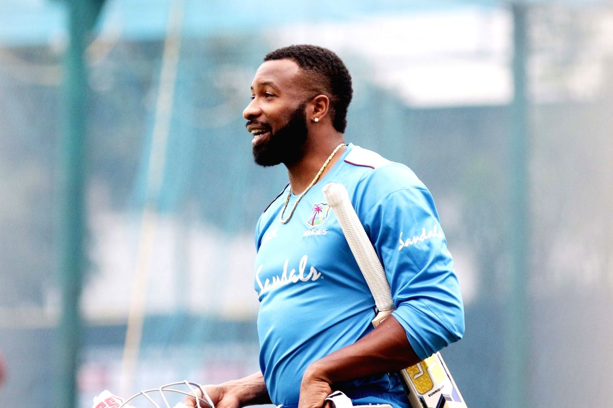 Chennai: West Indies skipper Kieron Pollard during a practice session on the eve of the 1st one-day international (ODI) match against India, at MA Chidambaram Stadium in Chennai on Dec 14, 2019.