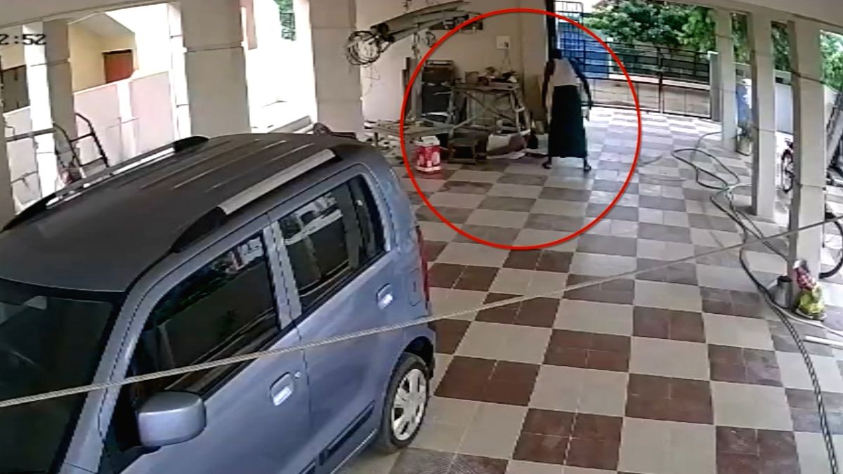 Chilling video captures Andhra man hammering son to death.