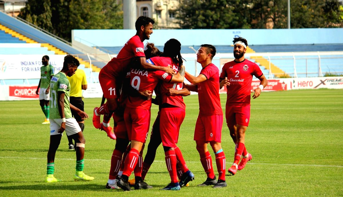 Churchill Brothers squeezed past a last-minute scare to beat 10-man Gokulam Kerala FC 3-2 at the Kishore Bharati Krirangan in Kolkata on Monday, and extended their lead at the top of the I-League table to five points. Credit: AIFF
