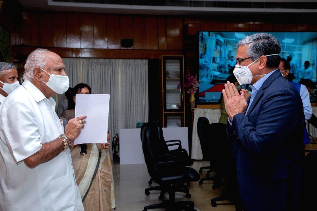 CM unveils 56-bed ICU in B'luru hospital for Covid care