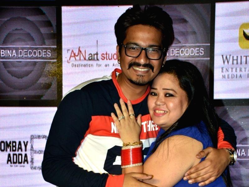 Comedian Bharti Singh along with her husband Haarsh Limbachiyaa