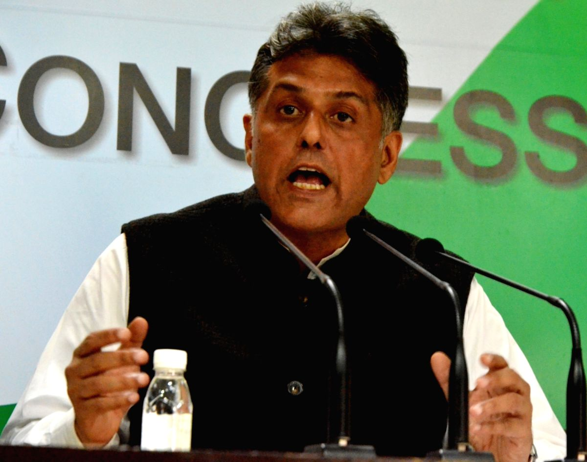 Congress leader Manish Tewari.