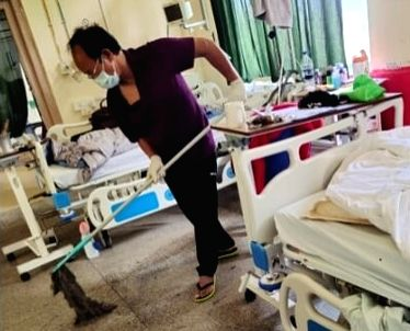Covid positive Mizoram Minister sets instance mopping hospital floors, sharing meal with others